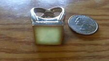 Real 925 Sterling Silver *Size 8*H299 Beautiful Light Green Big Square Gems Ring