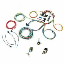 21 Circuit Easy Wiring Harness ALL BLACK CHEVY Mopar FORD Hotrods UNIVERSAL