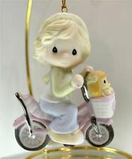 Precious Moments Ornament Girl On Bike w/ Puppy Dog 111026 Bx FreeusaShp