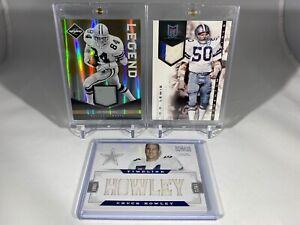 Jay Novacek D.D. Lewis Chuck Howley 3 card Relic Lot Dallas Cowboys
