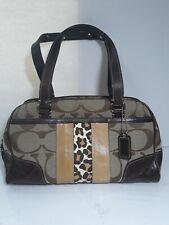 Coach F 13074 Shoulder bag Signature Handbag Brown canvas/leather Women