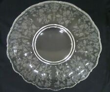 """Beautiful and Rare Cambridge Glass Rose point Large Centerpiece Serving Bowl 13"""""""