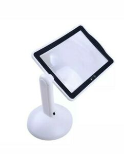 Hands-free 360° 3x Magnifier Magnifying Glass 2-LED Table Lights Desktop New!!