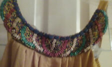 Junior dress sz. 9  sexy, soft  indian beaded neck color - mustard/gold Ruby Rot