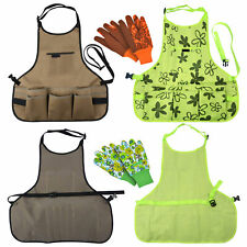 More details for multifunctional waterproof oxford cloth garden apron tools belt & 1 pair gloves