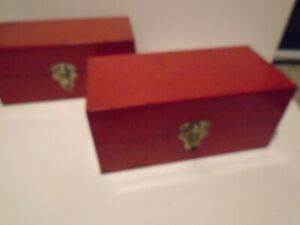 SUPERB PAIR OF QUALITY METAL BOXES