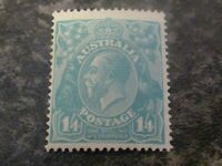 AUSTRALIA POSTAGE STAMP SG66 1/ 4D LIGHTLY MOUNTED MINT