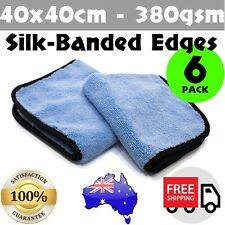 6x Microfibre Cloth Towel Microfiber Car Cleaning Polish Detailing Buffing Wax