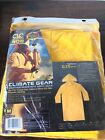 New Climate Gear PVC Garment Material Trench Coat 2 piece Weather Resistant M