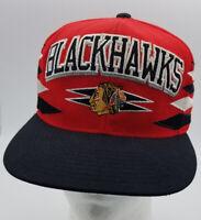 Chicago Blackhawks Mitchell & Ness Hockey NHL SnapBack Hat Cap Red Black oneSize