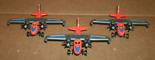 Three 1/130 Scale Twin Engine Seaplane Diecast Models - Water Landing Aircraft