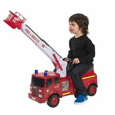 ACTION FIRE ENGINE RIDE ON FORWARD AND BACK LEFT AND RIGHT WATER SQUIRTER NEW