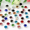 100pcs 4mm sew on crystal glass D claw rhinestones loose beads diy dress making