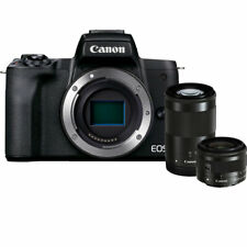 Canon EOS M50 Mark II Mirrorless Digital Camera w/ 15-45mm and 55-200mm Lenses