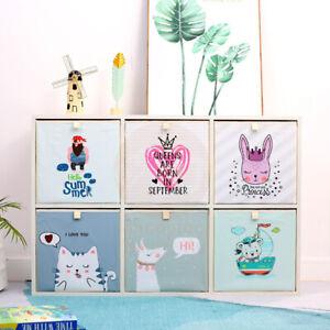 Foldable Folding Kids Storage Cube Storage Box Cube Toy Organiser