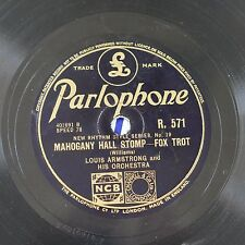78rpm LOUIS ARMSTRONG mahogany hall stomp / DUKE ELLINGTON black beauty