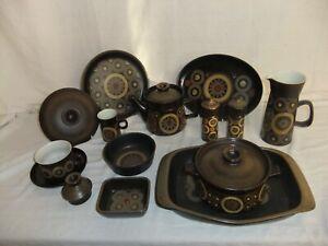 c4 Pottery Denby - Arabesque - brown vintage retro unusual tableware 3B4A