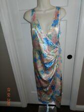 Vintage Victoria's Secret S Gold Foral Slip Dress Long Gown Vtg Glam Pin Up