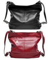 Soft Genuine Leather Cow Leather Women Backpack Tote Shoulder Bag Purse Handbag