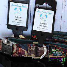 Large Dog Collar+Lead Set Four Furry Paws Paisley Neoprene Adjust 46-51 cm