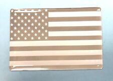 Américain USA Stars and Stripes Chrome & Blanc sticker/autocollant brillant en forme de dôme Gel