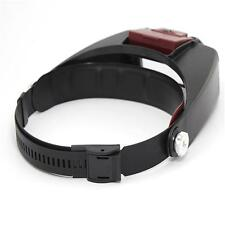 Headband Headset LED Head Lamp Light Jeweler Magnifier Magnifying Glass Loupe =G