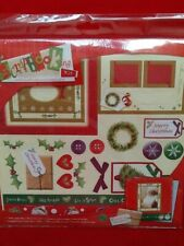 CHRISTMAS SCRAPBOOKING KIT WITH STICKERS, PAPER SHEETS, DIE CUT SHAPES NEW