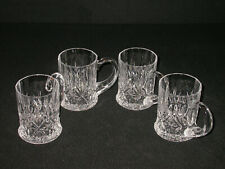 Paul Sebastian Crystal Tankard Coffee Mug Cups Set Of 4