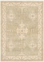 "Hand-knotted  6'5"" x 9'1"" Peshawar Oushak Bordered, Floral, Traditional Wool Rug"