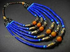 N4189 TIBETAN Tribal Strand Beads Bovine Bone BOLD FASHION NECKLACE Jewelry
