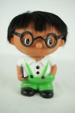 vintage Japan rubber vinyl doll Hawaii Iwai Iwaisan boy book glasses 16 cm 60's