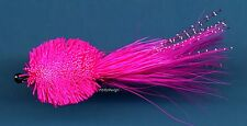Pink Polywog Deer Hair Saltwater/Freshwater Fly Fishing Flies - Hook Size 4