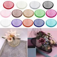 1pc New DIY Round Sinamay Base For Fascinator Party Hat Millinery Craft Making