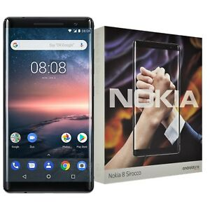 "New 5.5"" Nokia 8 Sirocco Single-SIM 128GB TA-1005 Black Factory Unlocked 4G OEM"
