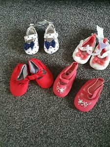 Baby Girls 3-6 Months Soft Bottom Shoes