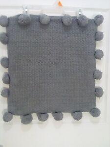 Anthropologie pom pom single pillow sham in gray