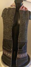 XOB Pocket Scarf Wool Blend Poly Liner Multi Color Gray 73 x 6 Winter Ski