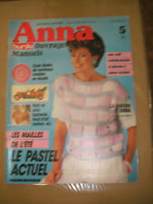 Anna - Burda Ouvrages Manuels N° 5 1985 Crochet Tricot Couture Broderie Patrons