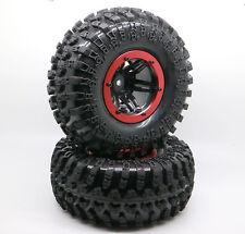 "4PCS 2.2"" Inflatable Tires W/ Alloy Beadlock Wheels 1/10 RC Crawler CAR 3022RD"