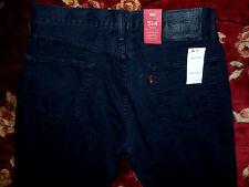 $59 Levi's 514 Mens Black Jeans Size 36x29 Authentic Regular Straight Fit Denim