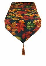 Red & Bronze Large Autuim Leaves Table runner made in the UK