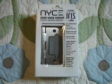 "NYCE Door Hinge Sensor, 3.5"" Satin Nickel Finish - Lowes, Iris 752888"