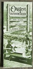 1962 Oregon outdoor guide brochure & map Multnomah Falls, Coast,  Gorge photos b