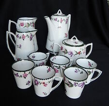 SERVICE CAFE STYLE EMPIRE FLEUR PEINT MAIN WURTTEMBERG TASSE POT CAFETIERE
