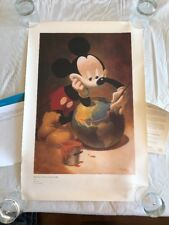 DISNEY D23 CHARTER MEMBER PAINTING A SMILE ON THE WORLD LITHOGRAPH 80th ANNIV.