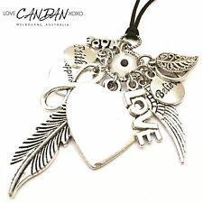 Evil Eye Bohemian Necklace With Angel Wing Peace Infinity Happiness Love Charms