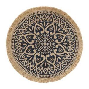 Mandala Round Placemat Boho Woven Macrame Tassels Table Mat Cup Plate Coaster