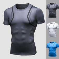 Men Compression Shirt Breathable Base layer Sport Fitness Tight Top Short Sleeve