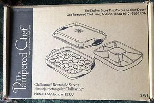 PAMPERED CHEF 2781 Chillzanne rectangle Server Brand New In Box Original