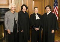 Women on Supreme Court Group PHOTO O'Connor Ruth Bader Ginsburg, Sotomayor Kagan